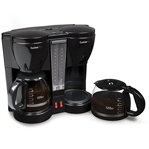CucinaPro Double Coffee Brewer Station - Dual...