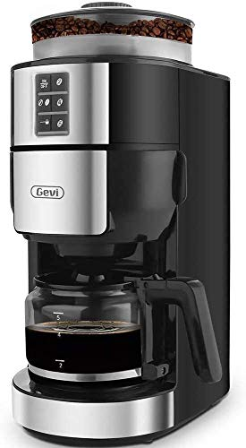 5-Cup Drip Coffee Maker with Built-In Coffee...